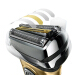 ブラウン(BRAAUN)ドイツ電気シェーバー9系充電式シェーバー男性の全身水洗い9295 cc/9299 s 9299 s