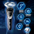 フレップス電気シェーバー三枚刃充電式メンズ髭剃刀S 3551水洗い乾燥両髭剃りターボ加速帯充電表示